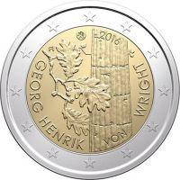 Финляндия 2 евро 2016 Георг Хенрик фон Вригт.