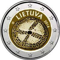 2016 год. Литва. Монета 2 евро. Балтийская культура.