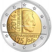 2014г. 2 евро. Люксембург. 175 лет назависимости.
