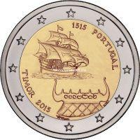 2015г. 2 евро. Португалия. 500-летие открытия Португальского Тимора.