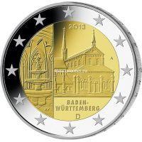 2013г. 2 евро. Германия. Баден-Вюртемберг.