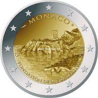 "2015г. 2 евро. Монако. ""800 лет первому замку в Монако"""