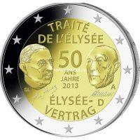 2013г. 2 евро. Германия. 50 лет Франко-Германскому договору о дружбе и сотрудничестве.