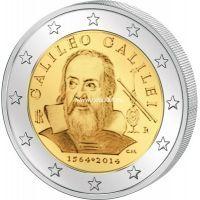 2014г. 2 евро. Италия. Галилео Галилей