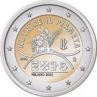 2015г. 2 евро. Италия. Expo 2015 в Милане.