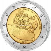 2013 г. 2 евро. Мальта. Первое правительство
