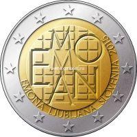 Словения 2 евро 2015 года 2000 лет римскому поселению Эмона.