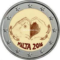 Мальта монета 2 евро 2016 любовь купить