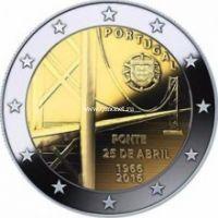 Португалия 2 евро 2016 мост имени 25 апреля.