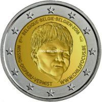2016 год. Бельгия. Монета 2 евро. 20-летие Европейского центра по делам пропавших без вести и подвергающихся сексуальной эксплуатации детей Child Focus.