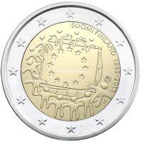 2015г. 2 евро. Финляндия. 30 лет флагу Европы.