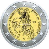 2016 год. Ватикан. Монета 2 евро. Святой год милосердия.