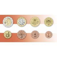 Набор евро монет Австрии. 2002-2013 г.