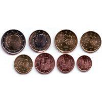 Набор монет евро Испании 2015 год.