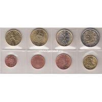 ИТАЛИЯ Набор евро-монет (микс)