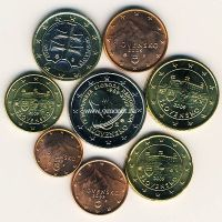Набор евро монет Словакия 2009