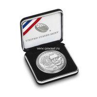 2017 г. США. 1 доллар. 100-летие Международного клуба Lions серебро, UNC