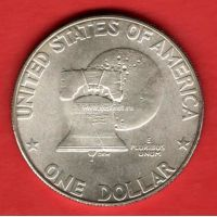 1976 год. США. Монета 1 доллар. S Серебро.