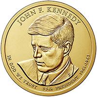 США 1 доллар 2015 год 35 президент Джон Кеннеди (John Fitzgerald Kennedy)