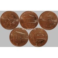 Набор монет США номиналом 1 цент. Жизнь Линкольна