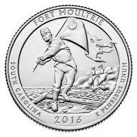 2016. 25 центов. 35 Национальный парк. Форт Молтри.