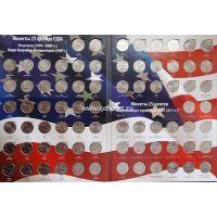 Полный набор монет 25 центов США штаты, территории, национальные парки 1999-2019 г.