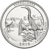2013. 25 центов. 20 Национальный парк. Гора Рашмор.