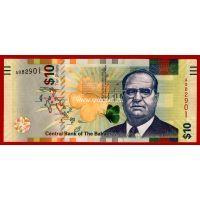 Багамские острова банкнота 10 долларов 2016 года.
