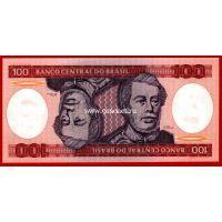1984 год. Бразилия. Банкнота 100 крузейро.