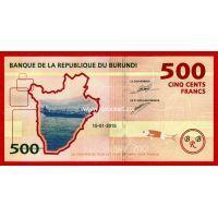 Бурунди банкнота 500 франков 2015 года.