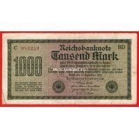 1922 год. Германия. Банкнота 1000 марок.