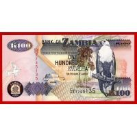 2009 год. Замбия. Банкнота 100 квача. UNC