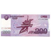 2008 год. Корея Северная. Банкнота 200 вон. UNC