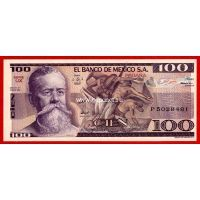 Мексика 100 песо 1982 года.