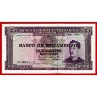 1967 год. Мозамбик. Банкнота 500 эскудо.