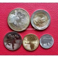 Колумбия набор 6 монет 2014-2016 года.