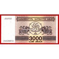 1993 год. Грузия. Банкнота 3000 лари.