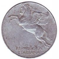 1950г. Италия. 10 лир. Пегас.