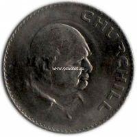 1965 год. Великобритания, 1 крона Уинстон Черчилль.