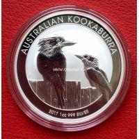2017 год. Австралия. Монета 1 доллар. Кукабарра. унция серебра 999 пробы. UNC