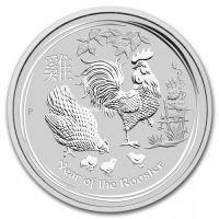 2017 год. Австралия. Монета 50 центов. Год Петуха. серебро 1/2 унции.