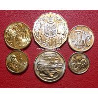 2016 год. Австралия. Набор 6 монет. 50 лет десятичной системе.
