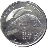 """2013г. Канада. 25 центов. """"Жизнь на Севере"""""""