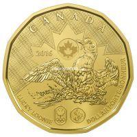 Канада 1 доллар 2016 года. Олимпиада в Рио.