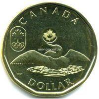 2012г. Канада. 1 доллар. Доллар удачи (Lucky Loonie) — Олимпиада 2012.