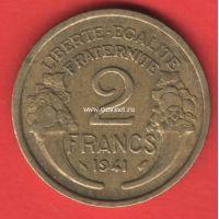 1941 год. Франция. Монета 2 франка.