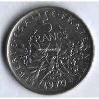 1970 год. 5 франков. Франция.