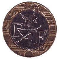 1991 год. 10 франков. Франция.