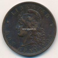 1893 год. 2 сентаво. Аргентина.