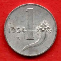 Италия 1 лира 1954 года